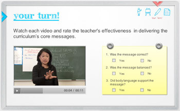 Screenshot of module that includes video