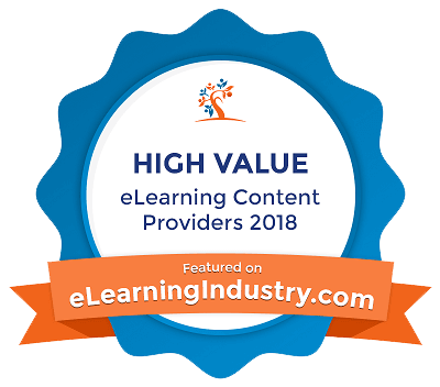 Badge high value eLearning content providers 2018